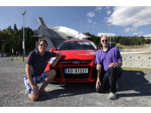 Knut Wilthil og Henrik Borchgrevink satte verdensrekord i økonomikjøring med Ford Focus med den prisbelønte 1.0-liters EcoBoostmotoren.