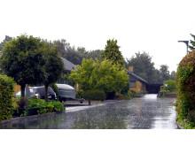 Store regnmængder i Danmark