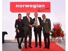 """Norwegian utsett till """"Årets flygbolag"""" av CAPA"""
