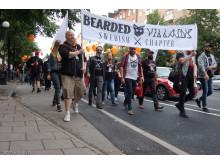 Skäggparad i Stockholm på World Beard Day