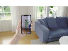 Nyt voit sisustaa Plantagenin uuden AR-työkalun (augmented reality, lisätty todellisuus) avulla kotisi kasveilla ja kokeilla miltä ne näyttävät kodissasi eri paikoissa ennen tilaamista.