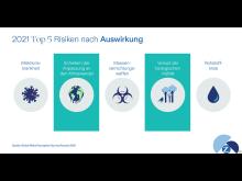 2021 Top 5 Risiken nach Auswirkung