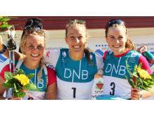 NM rulleskiskyting 2015 sprint pallen kvinner