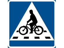 Nytt vägmärke för cykelöverfart