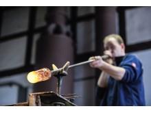 Glasmacher in der Glashütte Baruth
