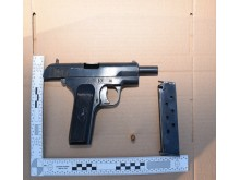 Firearm recovered from Mitchell