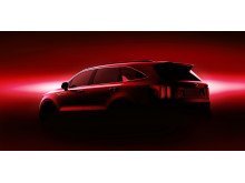 kia mq4 teaser rear red