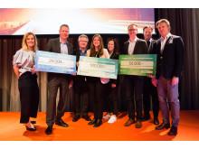 Förra årets vinnare: 1:a plats Sofie Allert, Swedish Algae Factory , 2:a plats David Johansson, Insplorion, 3:e plats Henrik Båge , Phoenix BioPower.