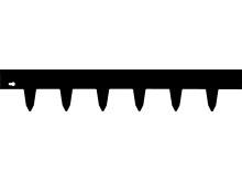Kantskydd svart 100x17 cm (4433)