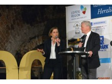 Dr. Skadi Jennicke (Bürgermeisterin und Beigeordnete für Kultur) beim 200. Tourismusfrühstück