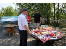 Bergbau-Picknick im aktiven Tagebau Vereinigtes Schleenhain