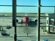 Primer vuelo en Buenos Aires, visto desde el dique de Ezeiza