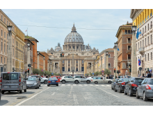Traffic in St Peter's Square & Vatican Basilica - Nataly Reinch _ Shutterstock.com