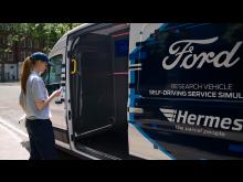 selvkjørende varelevering Hermes 2021 Storbritania