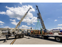 Huntsville: A heat exchanger is prepared for loading
