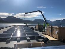 Solcellemontering på EL-Teams nybygg