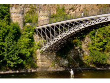 Angling for the big one under the Craigellachie Bridge