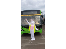 Go North East key worker spreading Easter weekend cheer