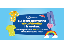 Go North East team members will again wear colourful clothing this bank holiday weekend