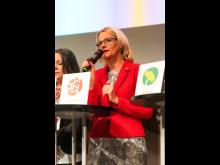 Heléne Fritzon, politisk debatt under Europaforum 2019.