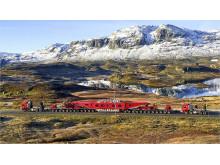 Transformatorer fraktes med spesialtransport