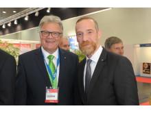 Herzliche Begrüßung: RDA-Präsident Richard Eberhardt (links) und Roland Elter, Maritim Direktor Konzernvertrieb.