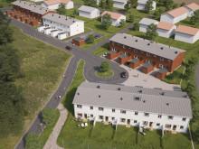 Översiktsillustration av det nya området, BoKlok Paradisängarna, Upplands Väsby.