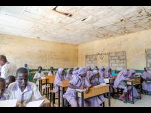 Elever i en skola i delstaten Borno, Nigeria.