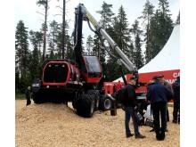 Nya skördaren Komatsu 901 XC hade världspremiär på Elmia Wood.
