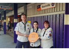 1st Bournville Scout leaders Cross City Heroes