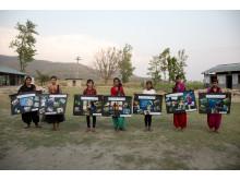 De sju flickor som var med i WaterAids fotoprojekt