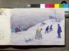 Axel Sjöberg. akvarell, privat ägo.