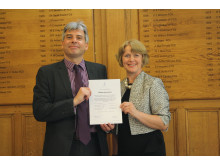 Andy Miller receiving CII certificate