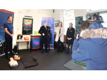 Nick Brown, GTR Chief Operationg Officer, at the AED demonstration