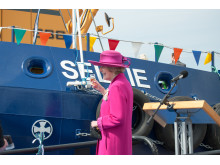 Clare Russell toasting the Selkie