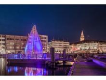 starke Beleuchtung mitten im Herzen der Innenstadt - Bootshafen Kiel