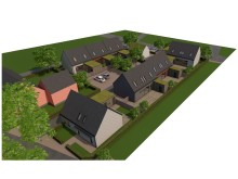 Det planerade bostadsområdet i Lerberget i Höganäs där Derome planerar bygga radhus.