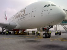 Cavotec in-ground utility systems support the servicing of an A380 superjumbo.