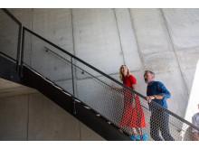 Overskudsbeton fra Københavns metro bruges i nye betonvægge i Upcycle Studios
