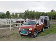 Nye Ford Ranger - med sin klasseledende tilhengerkapasitet - er et godt egnet kjøretøy for hesteeiere.