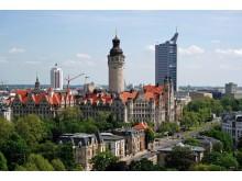 Blick auf Leipzig