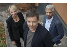 Jessica Ziegerer, Jens Mikkelsen och Hussein El-Alawi, nominerade i kategorin Årets Berättare 2018