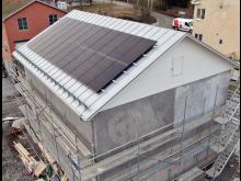 Solcellsanläggning på filterhus