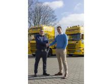 Marko Ruttkowski und Björn Fiedler von Scania Finance pflegen eine sehr gute Partnerschaft