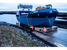 250-tonne Selkie on the slipway