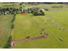 Palisademarkering i landskabsfoto fra drone