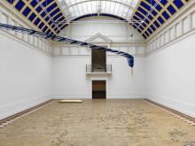 Lea Porsager, Blue Structure w/ Wax Slits ~ Bird w/ WarmWetWound (2016)