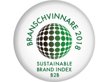 Branschvinnare 2018, Riksbyggen, Sustainable Brand Index B2B