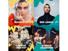 Tio nya artister i Malmöfestivalens andra musiksläpp.