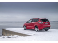 Nye Ford Kuga på nordkapp-platået